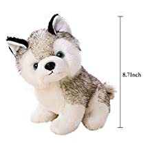 """22cm/9"""" Super Cute&Cuddly Soft Plush Stuffed Cute Animal Doll Toy Holiday Kid Gift,Husky Pet Dog Plush Pillow ,For 1-18 Years Kids Children"""