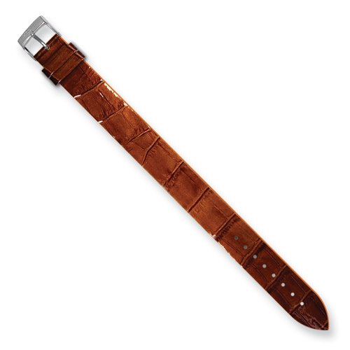 Alligator Texture Patent Finish - Moog Paris CC-15 Alligator Texture Calf Leather Patent Finish Watch Strap