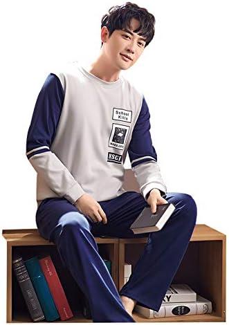 Pijamas Hombre Ropa de Dormir algodón para Hombres jóvenes ...