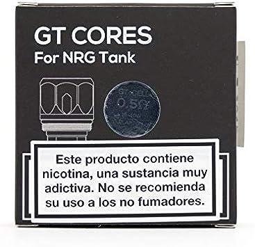 Bobinas de cerámica Vaporesso GT Core CCELL para SKRR, NRG, tanque en cascada, bobina de repuesto de 0,5 ohmios Rango 25-35W (3 paquetes), sin nicotina