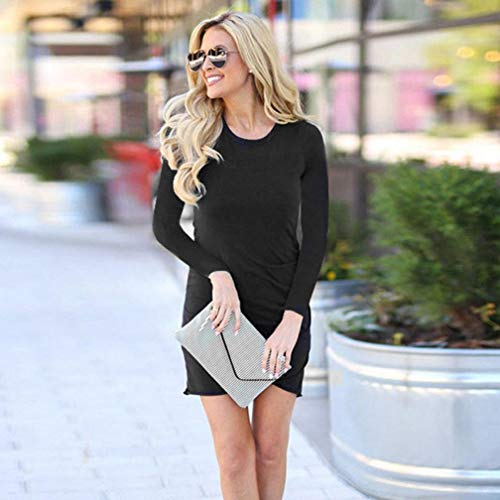 ❤️ Mini Casual Bodycon Diario Club Absolute Trabajo de Casual Vestido Vestido lápiz Negro para de Larga Party Manga Mujer TqxncWtHt