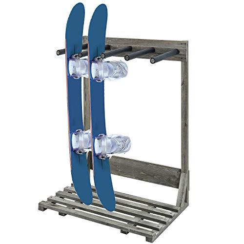 MyGift 4-Ft Vintage Gray Freestanding Vertical Surfboard Storage Rack