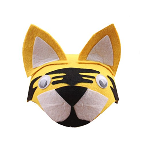 (Farm Animal Cartoon Kids Mask Hat for Cosplay Halloween Birthdays Theme Party Costume)