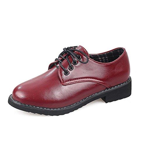 Pequeños zapatos de las señoras/Cabeza redonda con zapatos oscuros de Joker/ zapatos de tacón plano antideslizante B