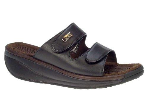 Joya Menns Skogs Sort Skinn Glide Sandal, 10 M