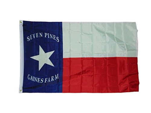 3x5 Texas Hoods Brigade Seven Pines Gaines Farm 3x5 Flag Banner indoor/outdoor PREMIUM Vivid Color and UV Fade BEST Garden Outdor Resistant Canvas Header and polyester material (Hood Header)