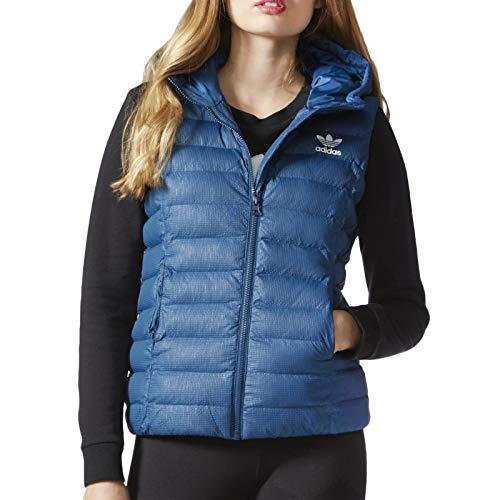 adidas Originals Womens Slim Vest Hooded Gilet - Blue - M