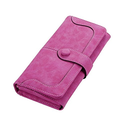 Money coming shop 1 PC Hot Women Lady Fashion carteira feminina Retro Matte Stitching Wallet Long Card Holder Purse Handbag Clutch Coin Bag (Cheers And Beers Costume)