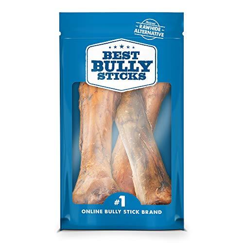 Best Bully Sticks Jumbo Smoked Beef Shin Bones 3 Pack – Free-Range, All-Natural, Grass-Fed Beef Dog Chews