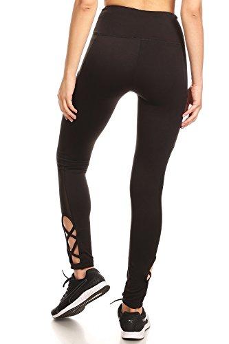43c3d2d85f58b YADO High Waist Tummy Control Legging With Side Pocket and Strap Detail ...