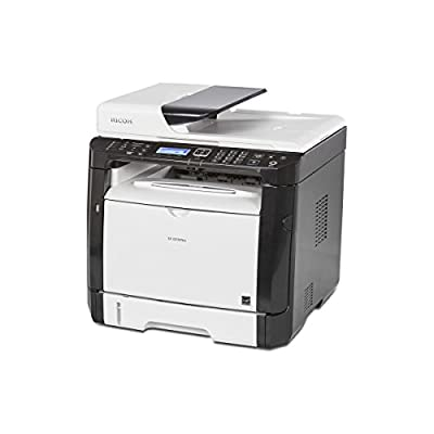 Ricoh 407983 Wireless Monochrome Printer with Scanner, Copier & Fax, 4