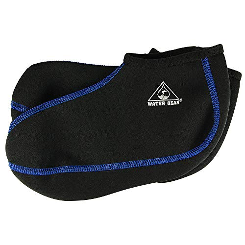 - Water Gear Fin Socks, Large (Blue Stitching)