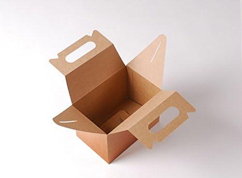 Selfpackaging Caja de Picnic en Color Kraft para cumpleaños, Fiestas o Food Trucks - M: Amazon.es: Hogar