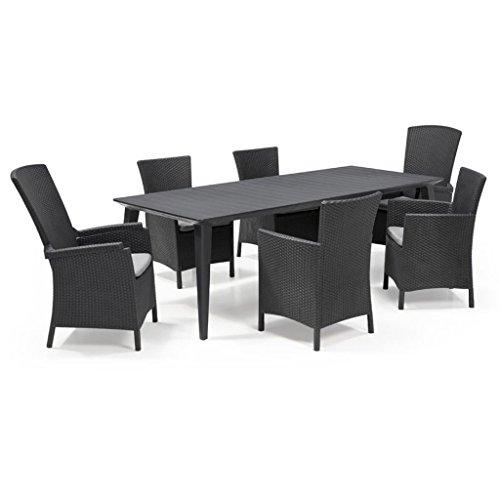 Amazon.de: Allibert 7-tlg. Gartenmöbel Set Sitzgruppe ...
