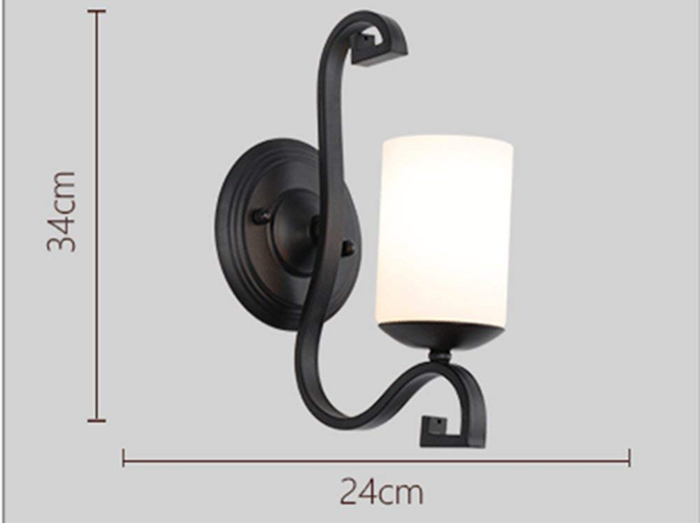 220v BAIJJ Wandleuchte Amerikanische Einzelkopf-LED-Wandleuchte, Leisure Club Hotelzimmer-Wandleuchten, Schlafzimmer-Nachttischlampe (Anzahl der Einheiten  220 V)