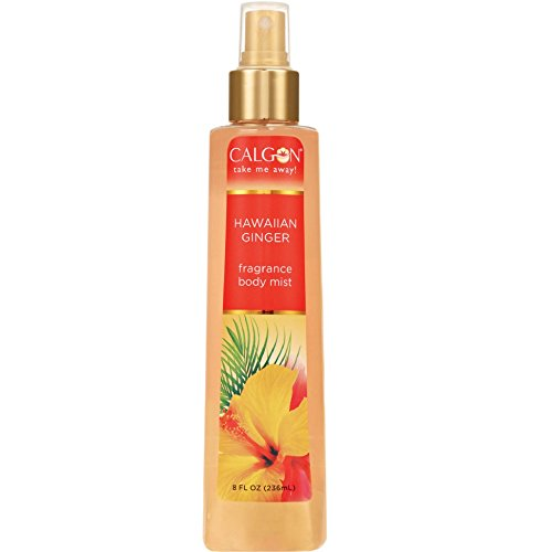 Calgon Hawaiian Ginger Fragrance Body Mist 8 oz (Pack of 4)