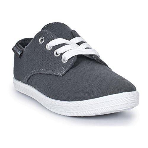 Schuhe Leinen Jungen Grau Trespass Meliert Bumper Kinder qw4Ex4tOI