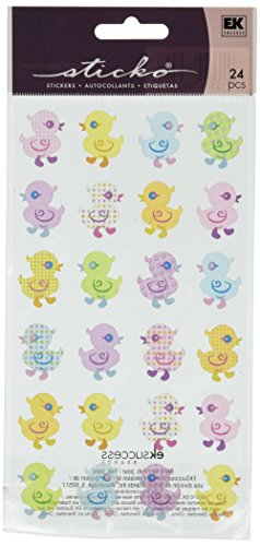 Sticko EK Success Colorful Rubber Duckies Stickers