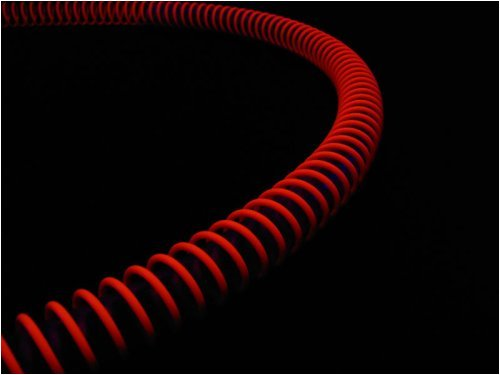 PrimoChill Anti-Kink Coils 1/2in. - UV Red / Pink - Anti Kink Tubing