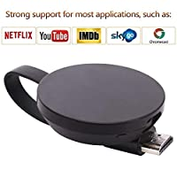 LONOSUN WiFi Wireless Display Dongle 1080P Mini Receiver Sharing HD Video from Projectors Cell Phones Tablet PC Support Airplay/Chromecast/Chromecast Tv/Miracast/Miracast Dongle for Tv