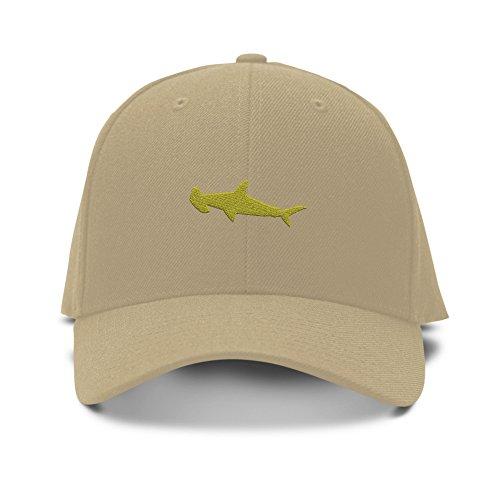 HUMMER HEAD SHARK ANIMALS Embroidery Embroidered Adjustable Hat Baseball Cap Khaki