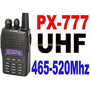 Puxing PX-777 UH 465-520Mhz UHF Ham radio + Earpiece Puxing