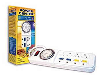 Coralife 05150 Power Center Day Night Timer Strip