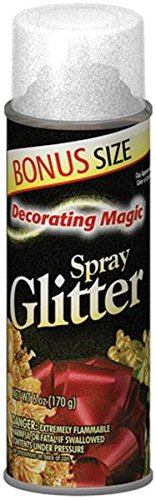 Chase DMSG-3311 Decorating Magic Spray Glitter, 6-Ounce, Silver