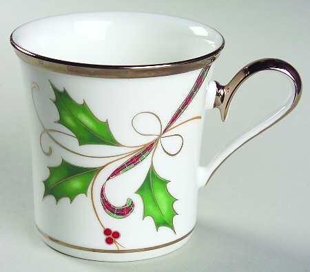 Lenox Holiday Nouveau Platinum White Mug Coffee Cup New (Lenox Holiday Coffee)