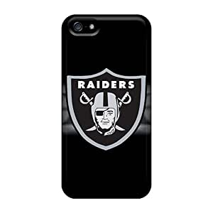 Shockproof Hard Cell-phone Case For Iphone 5/5s (xoa24668UWGc) Allow Personal Design Nice Oakland Raiders Skin