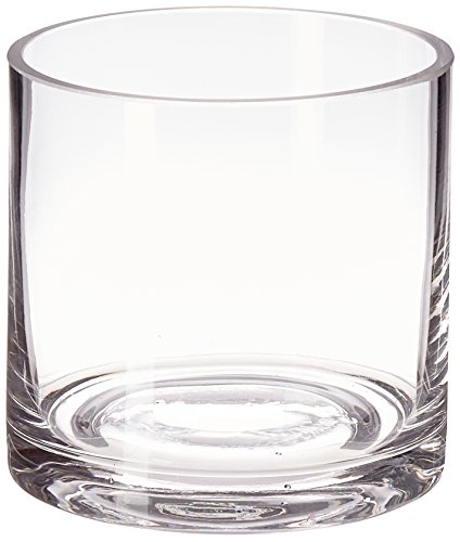 WGV Clear Cylinder Glass Vase/Votive Candle Holder, 4-Inch ()