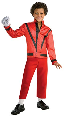 Cheap Michael Jackson Costumes (Michael Jackson Child's Red Thriller Jacket Costume Accessory,)