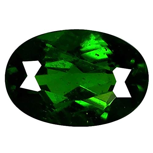 Deluxe Gems 0.74 ct Oval Shape (7 x 5 mm) Genuine Unheated Russian Chrome Diopside Loose Gemstone