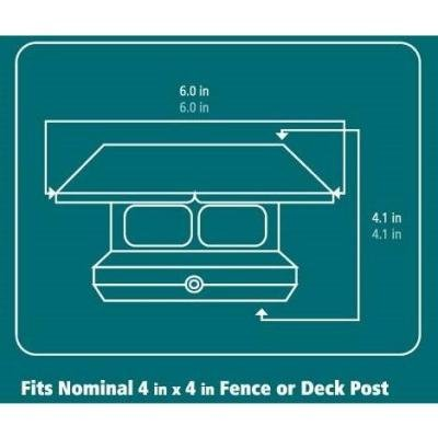 Veranda 4 in. x 4 in. Black Solar-Powered Post Cap for Deck or Fence, Black (12 PACK) by Veranda (Image #3)