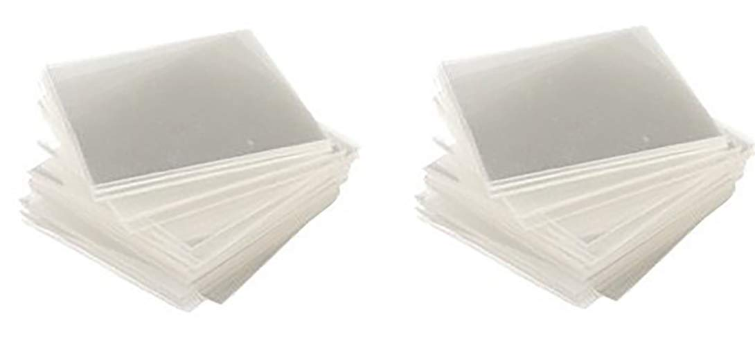 Clearshield Curing Film Squares or Plastic Tabs for Windshield and Rock Chip Repair (200 Pack)