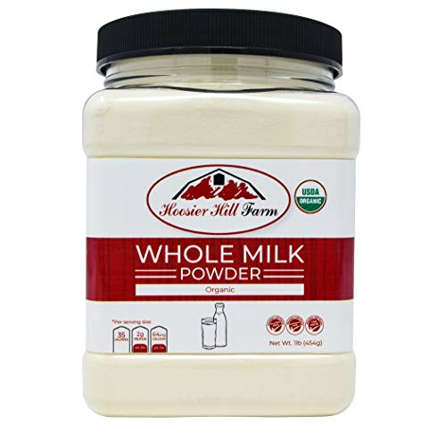 Certified Organic Whole Milk Powder (1lb), Hoosier Hill Farm, Hormone free