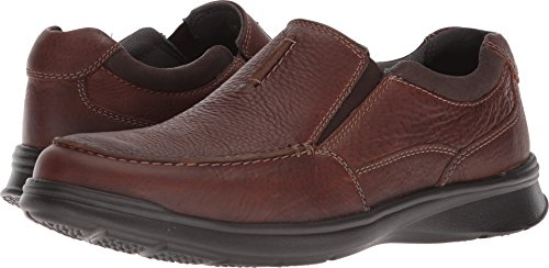Leather Clarks Slip - CLARKS Men's Cotrell Free Loafer, Tobacco Leather, 10 Medium US