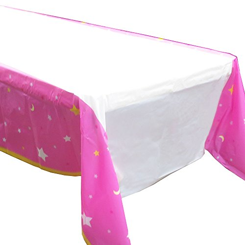 Blue Orchards Twinkle Twinkle Girl Tablecovers (2), Girl Baby Showers, Twinkle Little Star Pink Party -