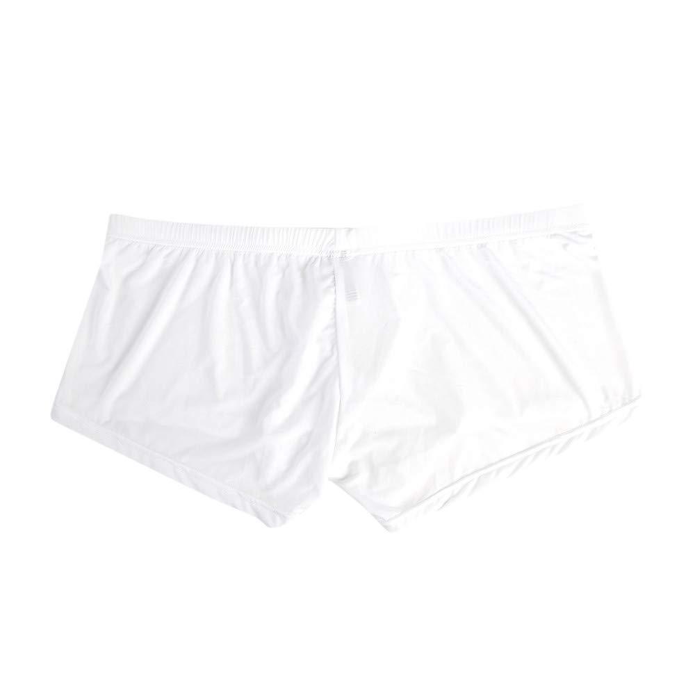 JJsmile di Marca Cotone Elasticizzato Contrasto Boxer Corti Pantaloncini Intimo Uomo Intimo//Pantaloni