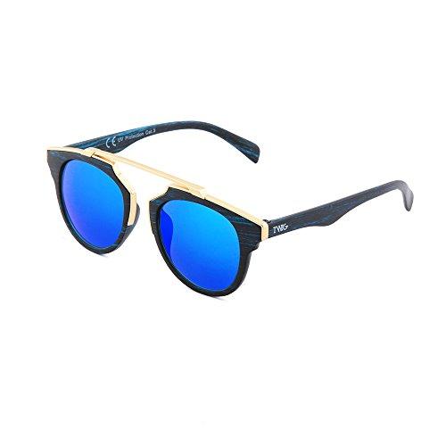 sol de Gafas mujer Azul hombre GOGH VAN Ebano madera TWIG estilo qUCCT