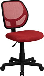 Flash Furniture Mid-back Red Mesh Swivel Task Chair