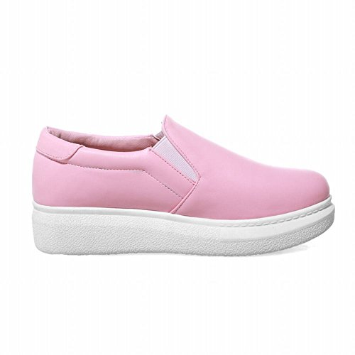 Latasa Damesmode Slip Op Loafers Schoenen, Sneakers, Platte Skate Schoenen Roze