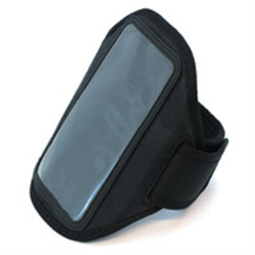 Neopren Sport Armband für LG K4 4,7 - 5,1 Zoll Armtasche Hülle Tasche Etui Case Cover schwarz