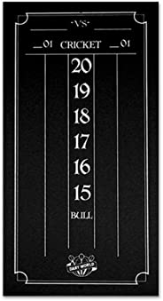Dart World Cricketeer Mini Scoreboard, Black