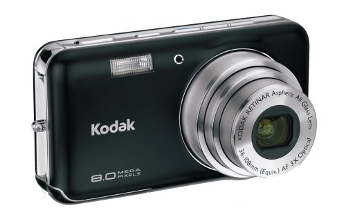 Kodak Easyshare V803 8 MP Digital Camera with 3xOptical Zoom (Midnight Black)