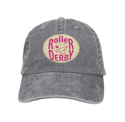 Baseball Caps Trucker Caps Bones Hip Hop Hats for Men Women Roller Derby Helmet Typography Gray