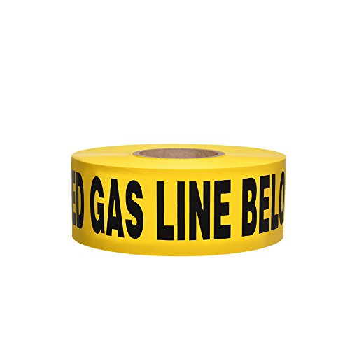 - Swanson BTND3100YBGL4 3-Inch by 1000-Feet 4-MIL Non-Detectable Tape with Caution Buried Gas Line Below Yellow/Black Print