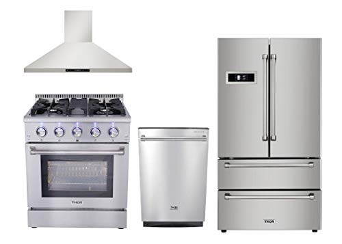 (Thor Kitchen 4-Piece Stainless Steel Kitchen Package with HRF3601F 36