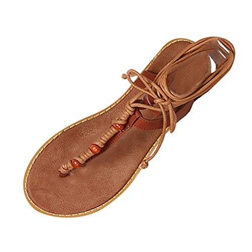 New Women Sandals Cross Bandage Strap Buckle Flat-soled for sale  Delivered anywhere in USA