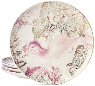 Martha Stewart Collection Harvest 4-Pc Marbled Salad Plate Set